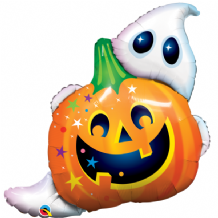 "Jack N' Ghost - Large Halloween Balloon (34"") 1pc"